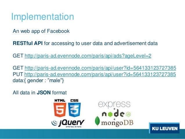 Schema of user data Schema of ad data Filtering by