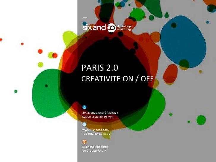PARIS 2.0 CREATIVITE ON / OFF