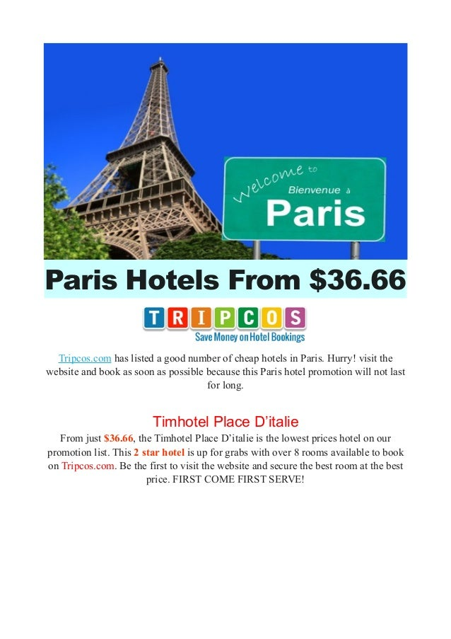 Paris Hotels From