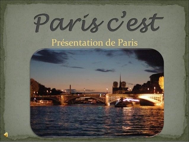 Présentation de Paris