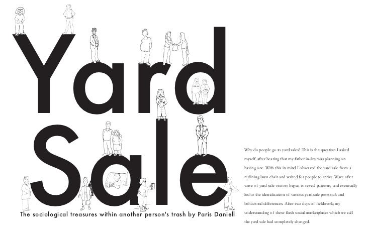 YardSale                                                                            Why do people go to yard sales? This i...