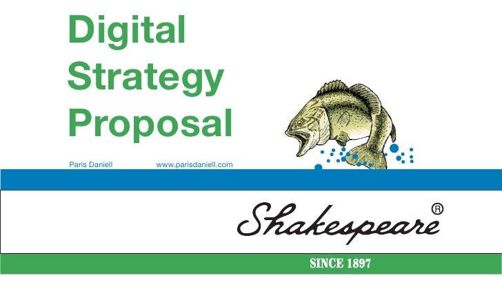Digital Strategy Proposal Paris Daniell   www.parisdaniell.com