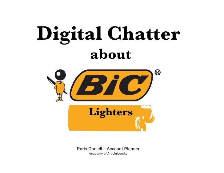 Digital Chatter !         about!                    !            Lighters       Paris Daniell – Account Planner           ...
