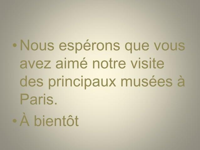 Le Paris des musées
