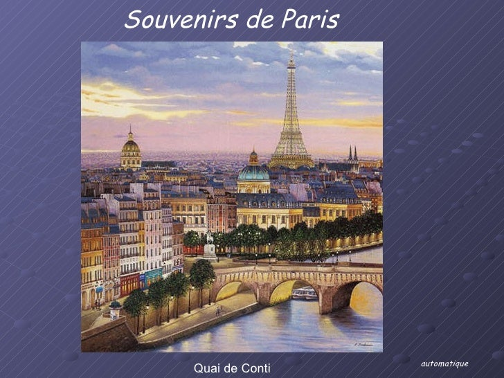 Quai de Conti Souvenirs de Paris automatique