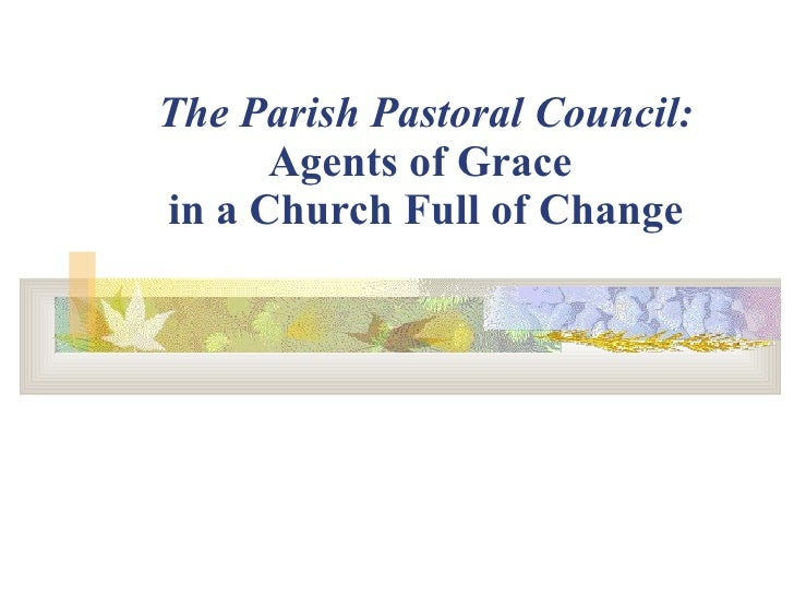 The Parish Pastoral Council: Agents of Grace  in a Church Full of Change