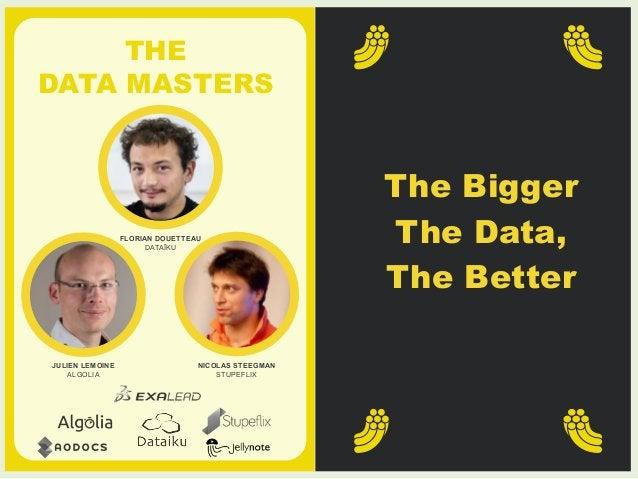 THE  DATA MASTERS  Granjon + Simoncini,  The Businessmen  Granjon + Simoncini,  The Businessmen  NICOLAS STEEGMAN  STUPEFL...