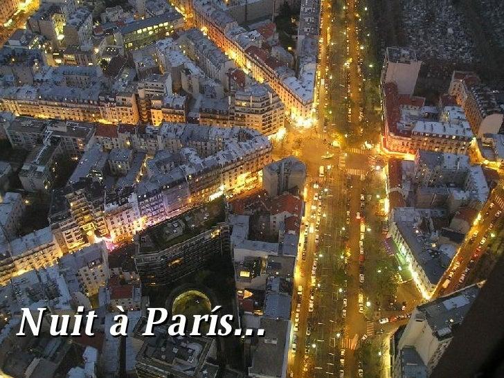 Nuit à París...
