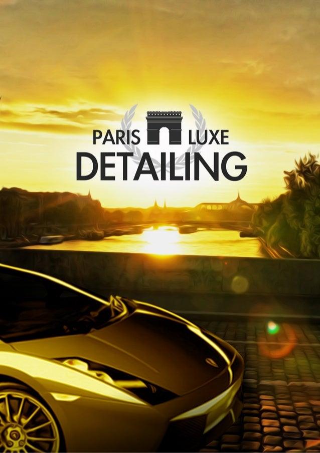 Présentation - Paris Duxe Detailing