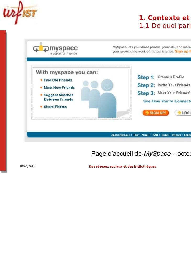 1. Contexte et usages                                          1.1 De quoi parle-t-on ?              Page d'accueil de MyS...