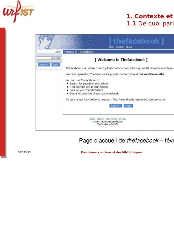 1. Contexte et usages                                          1.1 De quoi parle-t-on ?             Page d'accueil de thef...