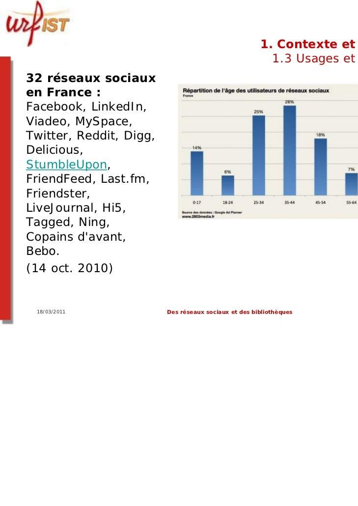 1. Contexte et usages                                                        1.3 Usages et usagers32 réseaux sociauxen Fra...
