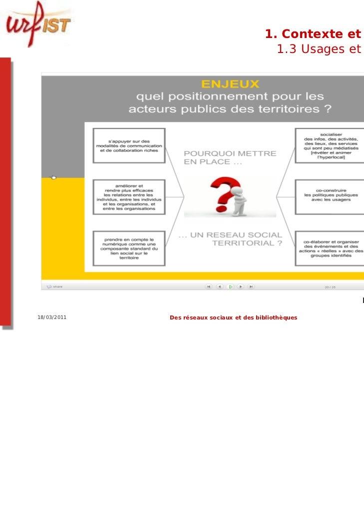 1. Contexte et usages                                            1.3 Usages et usagers                                    ...