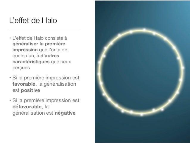 L'effet de Halo en psychologie sociale L'expérience de Cliford (1975) :  • des enseignants doivent décrire des enfants d'a...