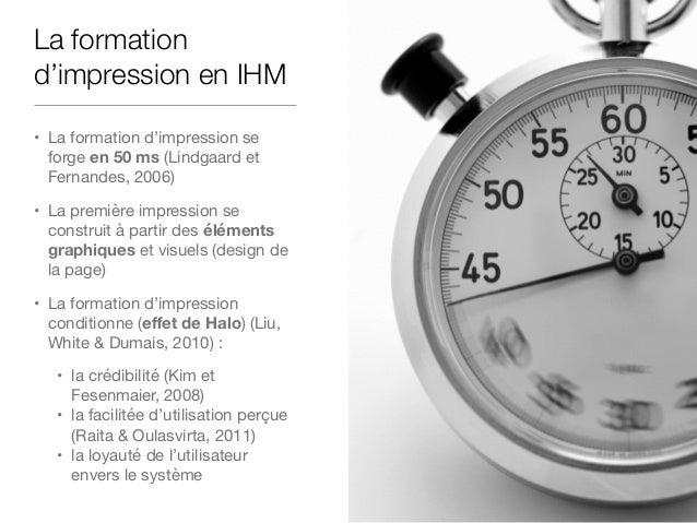 Le biais de confirmation en IHM • Plus l'utilisateur s'attend à ce qu'un site web soit facilement utilisable, plus il évalu...