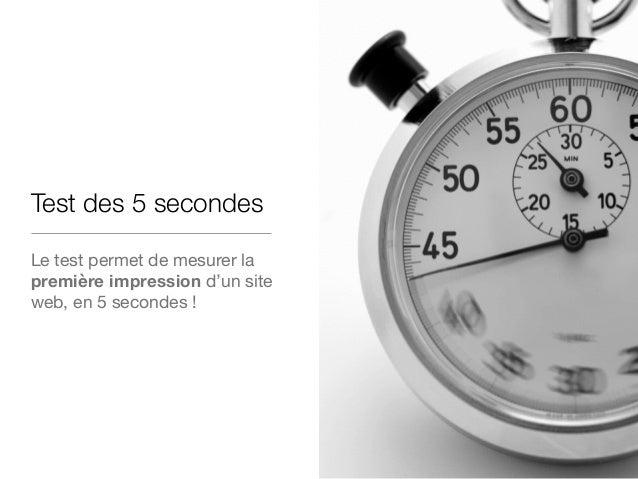 Le test des 5 secondes Application !