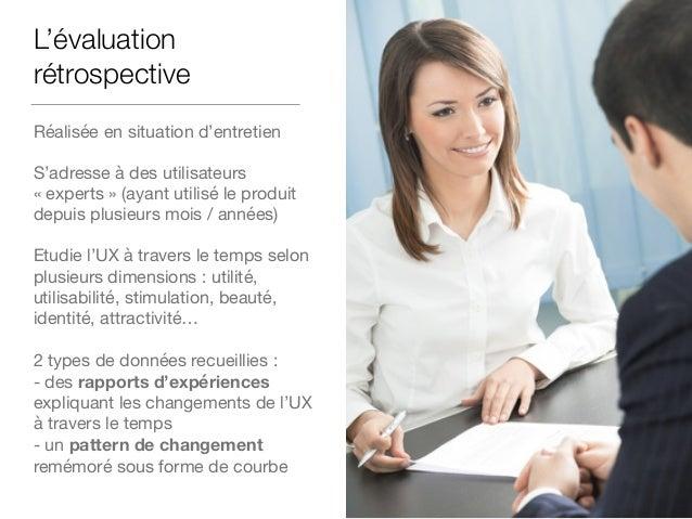 Comment évaluer l'UX à l'aide de courbes ? Procédure globale Au moment présent, comment évaluez vous l'utilisabilité de vo...
