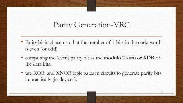 Parity check(Error Detecting Codes)