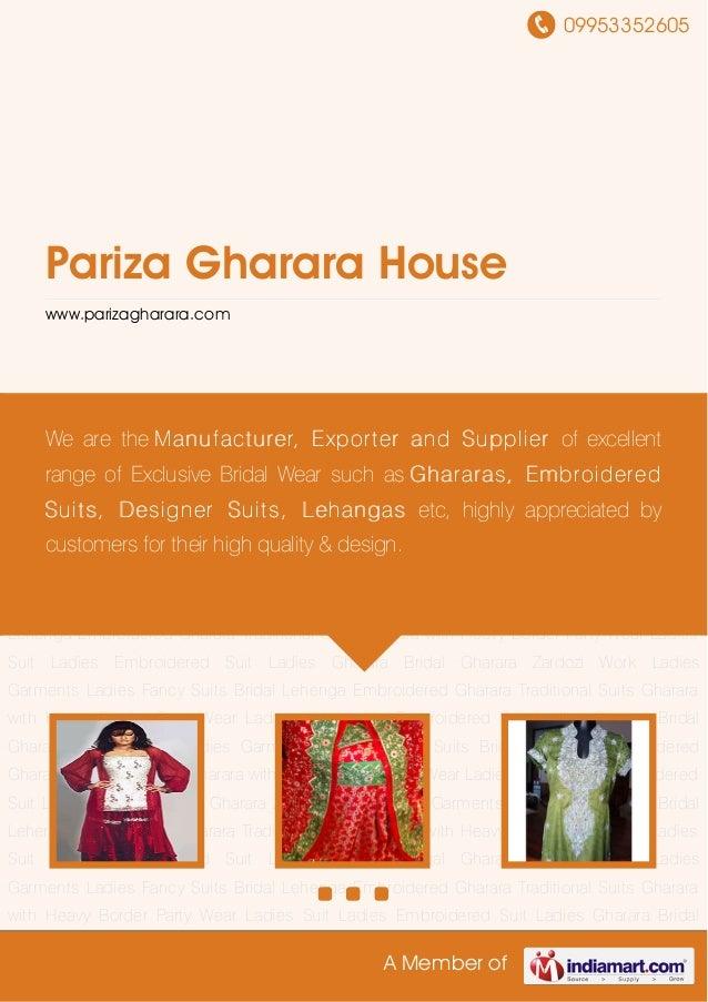 09953352605 A Member of Pariza Gharara House www.parizagharara.com Ladies Gharara Bridal Gharara Zardozi Work Ladies Garme...