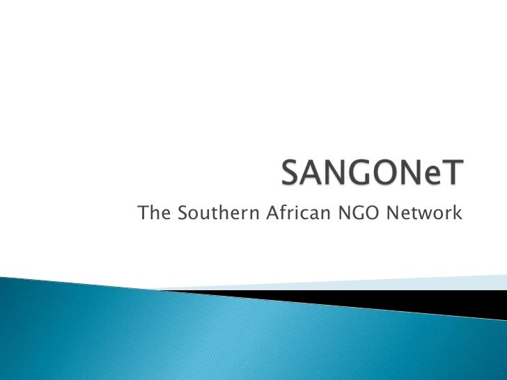 SANGONeT<br />The Southern African NGO Network <br />