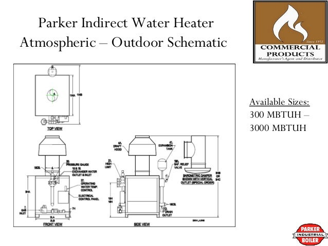 Parker boilers indirect pool heaters manufacturers 12 parker indirect water heater atmospheric outdoor schematic ccuart Choice Image