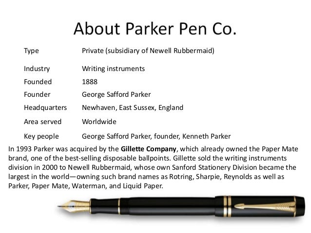 marketing parker pen strategy I operational effectiveness is not strategy for almost two decades, managers have been learning to play by a new set of rules companies must be flexible to respond.