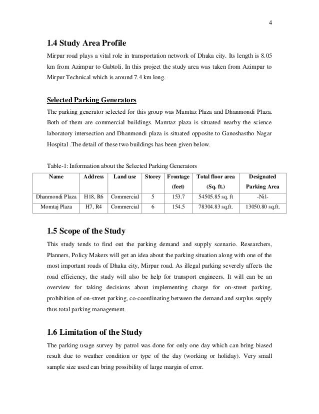 Parking Demand & Supply Analysis of Different Commercial