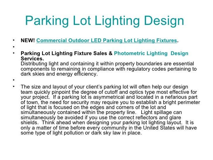Parking lot lighting design 1 728gcb1315570569 parking lot lighting design ullinew commercial outdoor led parking aloadofball Images