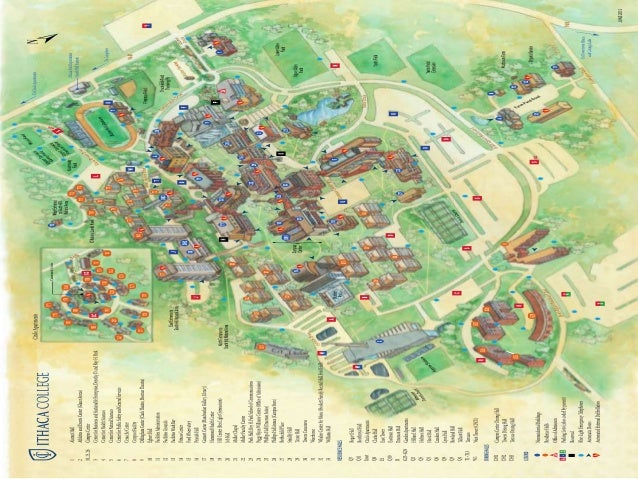 Campus Map Ithaca College.Ithaca College Redesigning The Parking System