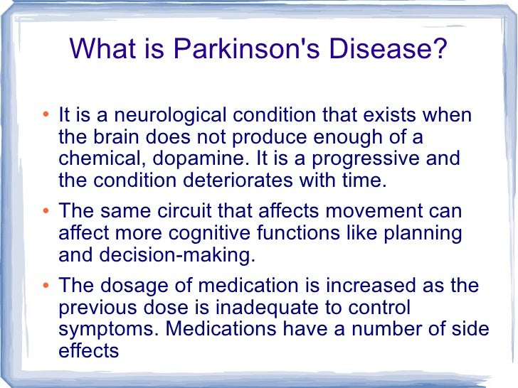 Parkinson S Disease My Friend