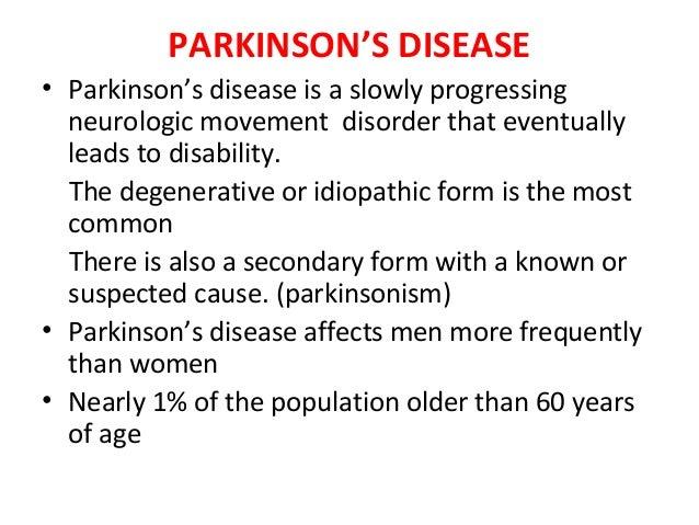 parkinsons disease hesi case study