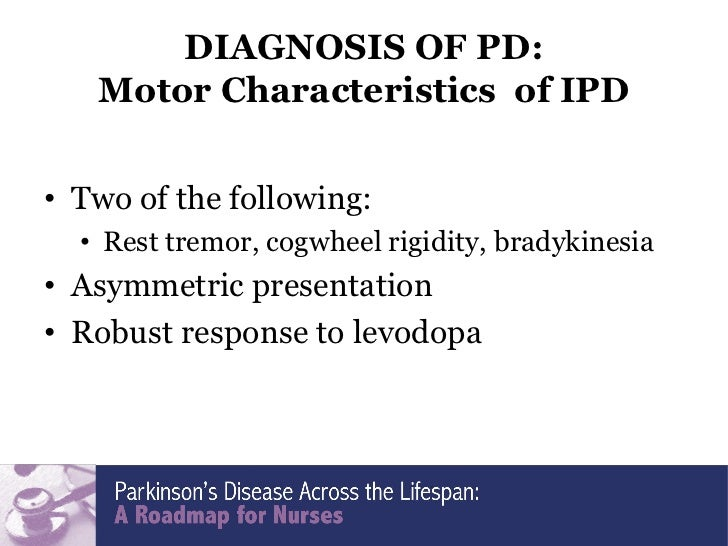 characteristics of the parkinsons disease Characteristics of visual hallucinations in parkinson disease dementia and dementia with lewy bodies  with pdd fulfilled uk parkinsons disease society brain bank.