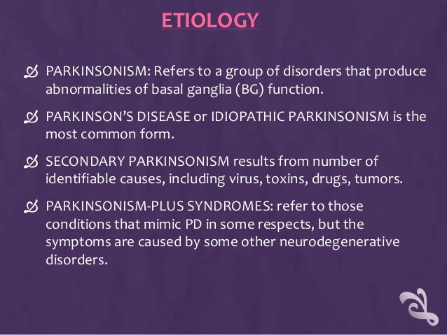the importance of basic knowledge about the neurodegenerative disease parkinsons disease There is a lot to know about parkinson's disease learn about symptoms, how it  is diagnosed and what treatment options are available.