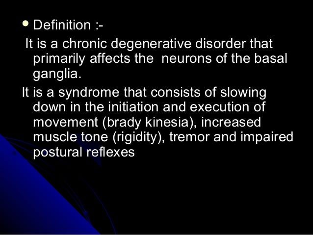 Parkinson's disease Slide 3