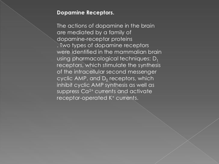 The five dopamine receptors can bedivided into two groups on the basis oftheir pharmacological and structuralproperties . ...