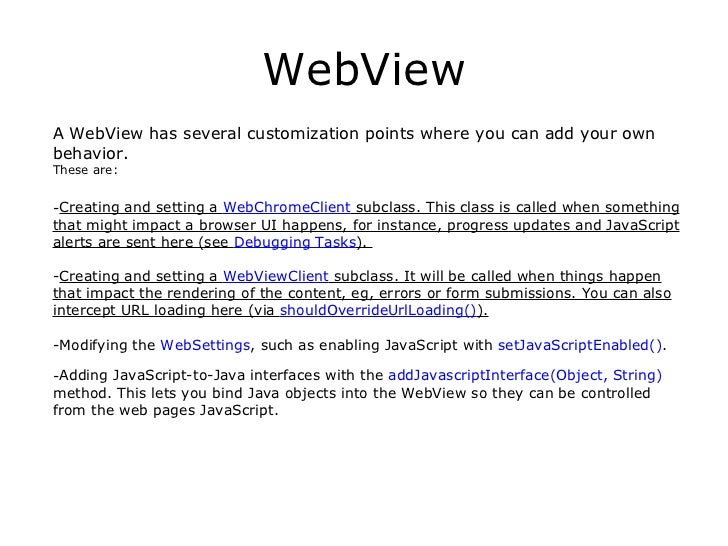 alternatives to webkit for creating a webview in an application