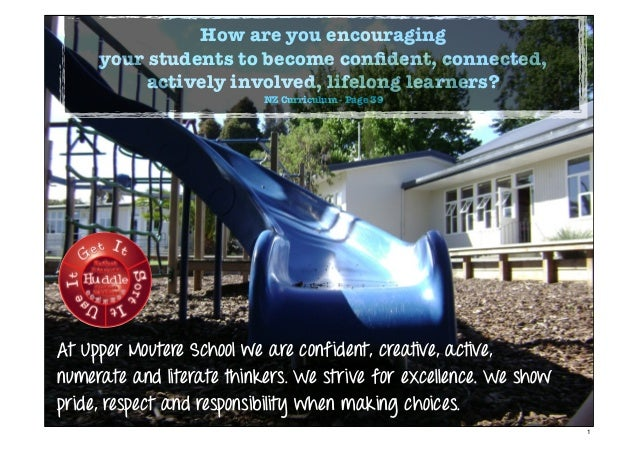 How are you encouragingyour students to become confident, connected,actively involved, lifelong learners?NZ Curriculum - Pa...