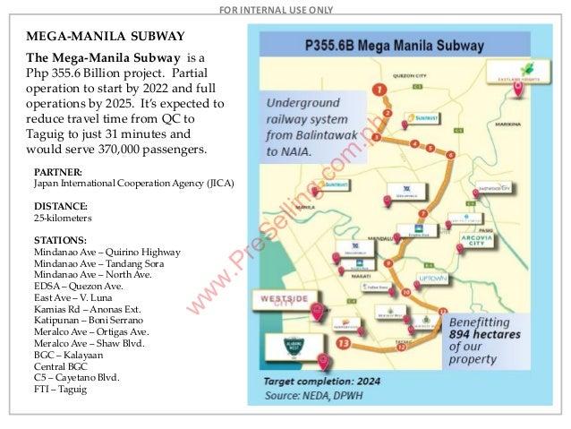 Mega Manila Subway Map.Park Mckinley West Mckinley Hill Preselling Com Ph