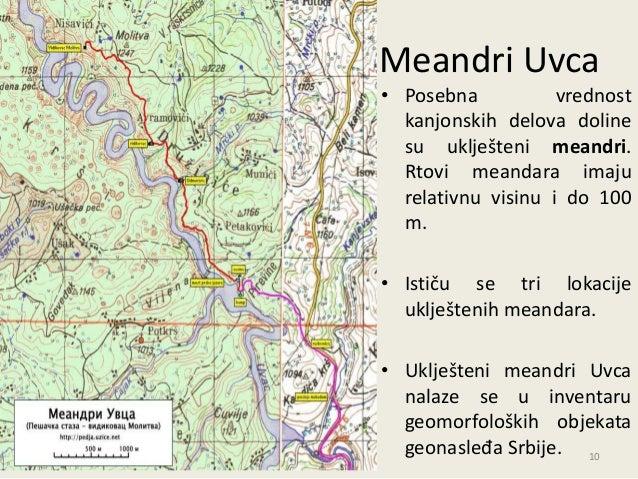 uvac srbija mapa Park prirode Uvac uvac srbija mapa