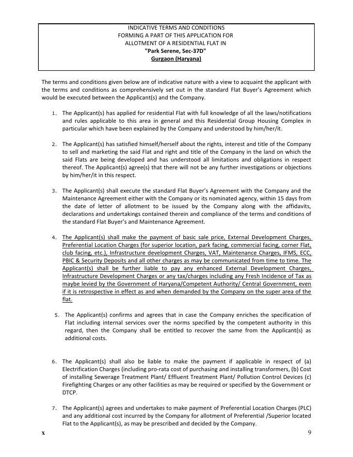 Park serene2Application Form 9999913391 BPTP Park Serene Phase – Superior Service Application Form