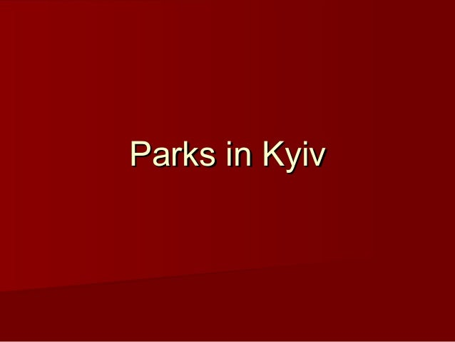 Parks in Kyiv