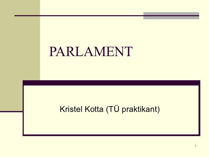 PARLAMENT Kristel Kotta (TÜ praktikant)