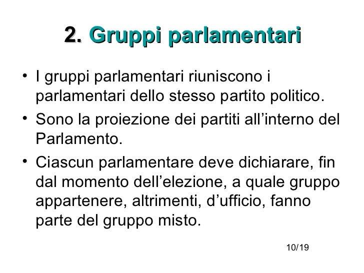 Parlamento parte prima for Gruppi parlamentari