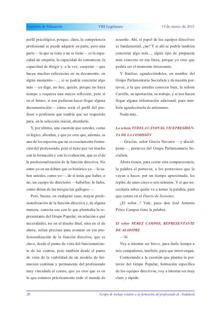 Comisión de Educación                        VIII Legislatura                              15 de marzo de 2011perfil psico...