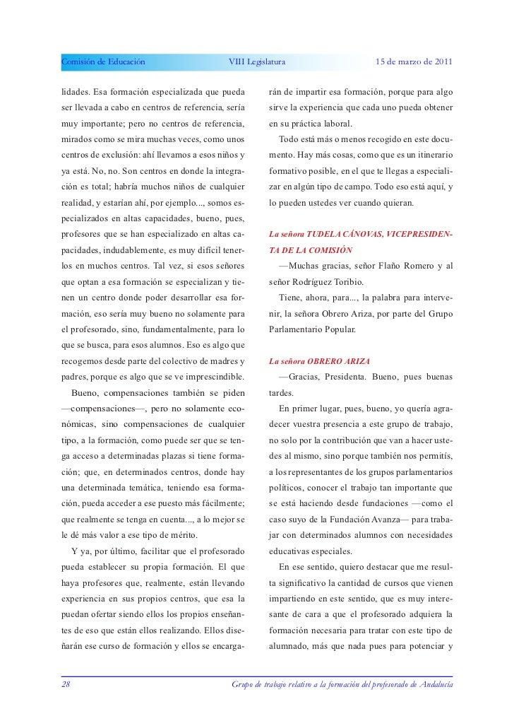 Parlamento andaluz comision educacion-5ª  sesión - 15.03.2011