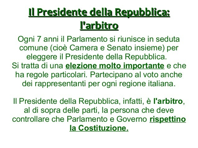 Parlamento e governo for Parlamento in seduta comune