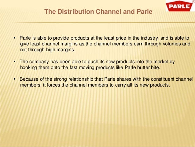 distribution strategy of parle g