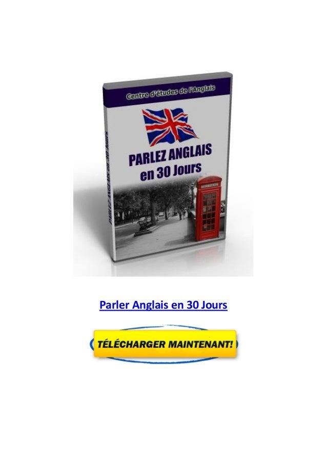 Parler Anglais en 30 Jours
