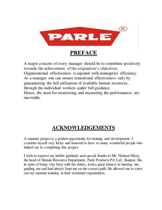 Projec on consumer behaviour toward parle buscuits