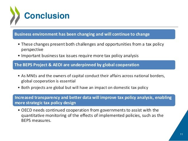 changes have been made that affect the global template - strategic tax policy design in the face of the changing